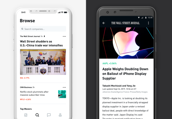 Stock trading app Robinhood revamps its newsfeed with The Wall Street Journal and ad-free videos – TechCrunch